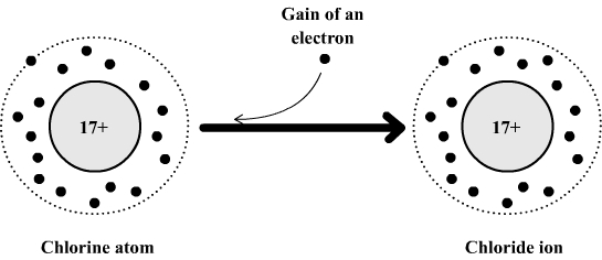 Formation of chloride ion
